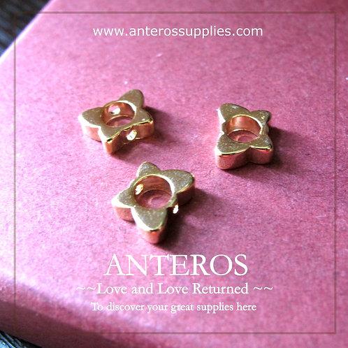 6PC Gold Butterfly Hollow Beads/Spacer/Bazel,8mm*6mm,GF Brass(GFB0059)