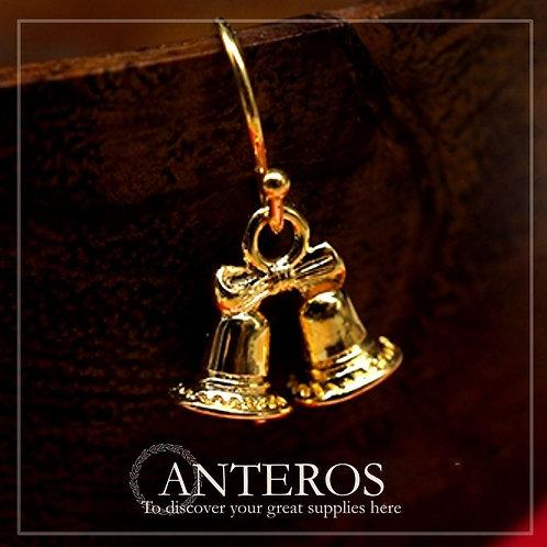 6 pcs Gold Lovely Christmas Bell , Gift Bell Pendants,11*12.5mm(GFPC0197)