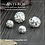 Thumbnail: 2PC 925 Sterling Silver Medium Rose Pattern Round Beads,8mm/10mm (SB0020)