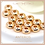 Thumbnail: 10PC Gold Round Disc Beads/Rondelle Convex Spacer,3.5/4.5/6mm(GFB0005)