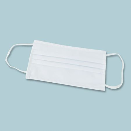 Mascherina in cotone bianca lavabile