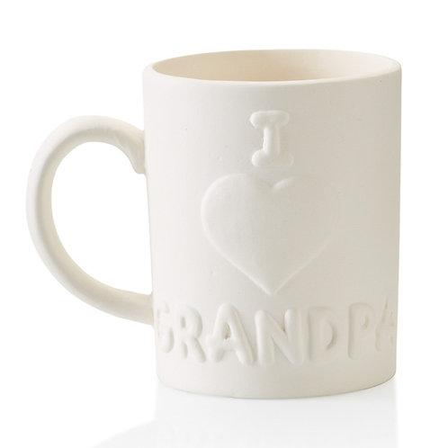 I Love Grandpa Mug
