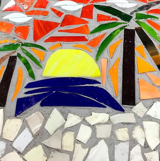 Mosaic Palm Trees