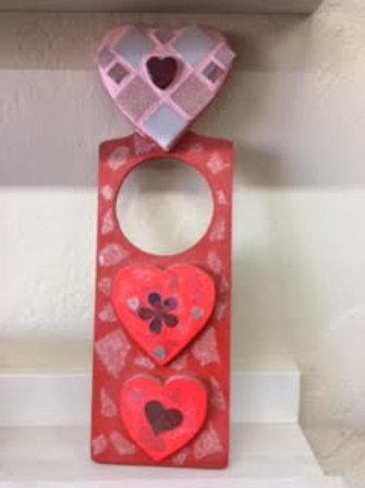 Mixed Media Kit - Heart Door Hanger