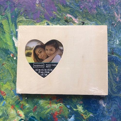 Mixed Media Kit - Frame with Left Heart