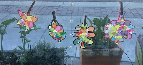 Colorful Leaf Sun Catchers