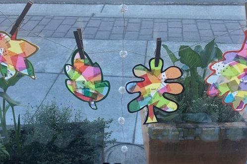 Colorful Leaf Sun Catchers
