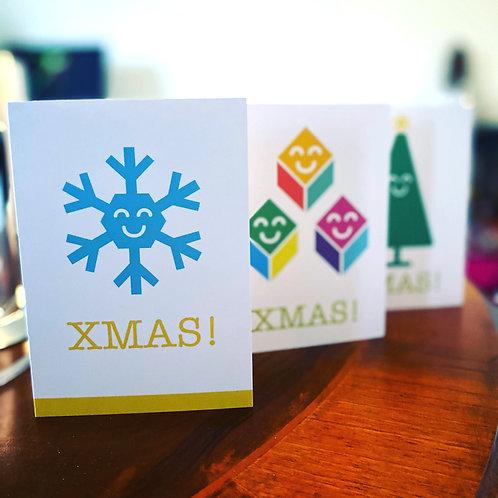 2020 - Xmas! Cards / 3 designs / 25 Cards + Env's