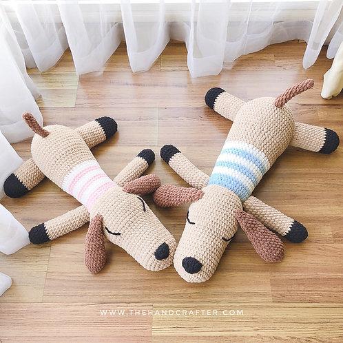 DIY crochet doggie plushie