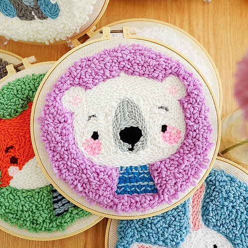 DIY punch needle little bear