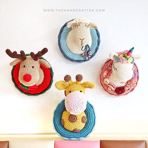 DIY crochet animals wall deco