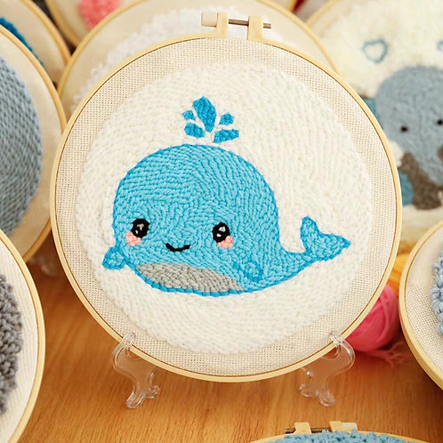 DIY punch needle whale