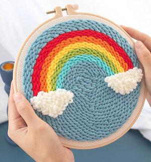 DIY punch needle rainbow