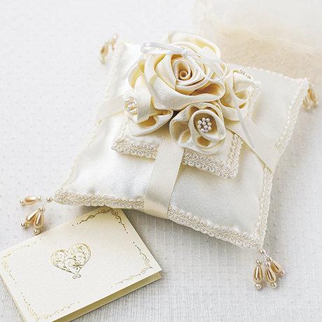 Rose veil ring pillow 431-132