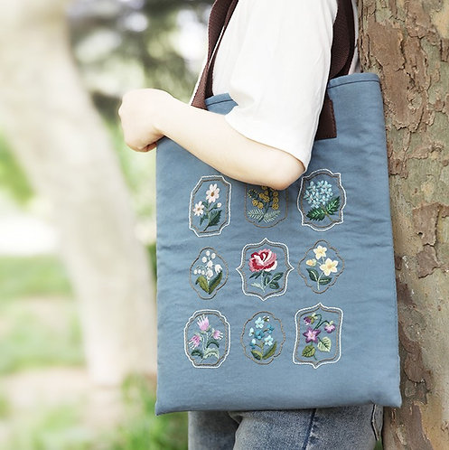 E03-KB019 Tote bag blue