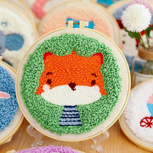 DIY punch needle little fox