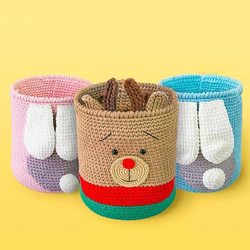 DIY animal tall basket