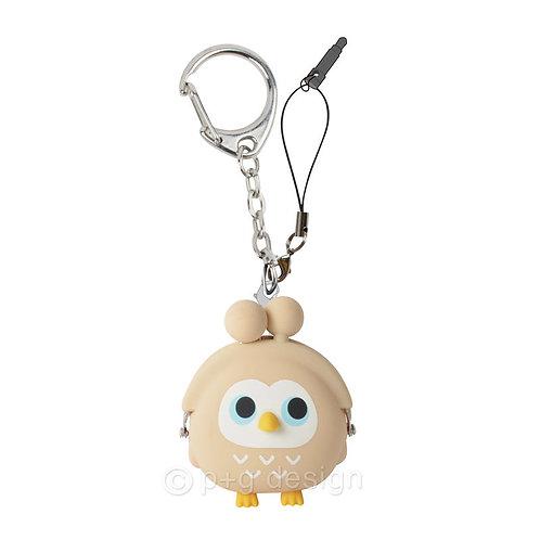3D POCHI-Bit Owl Beige