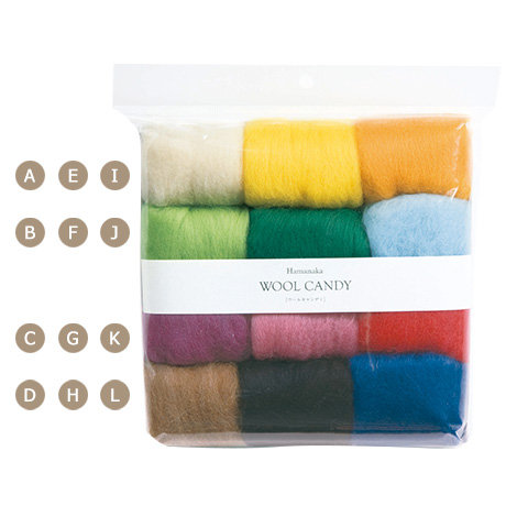 Wool candy 12 colors set