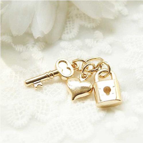 Heart & padlock key