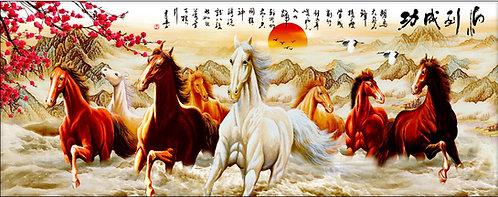H-149 Sunset Horses