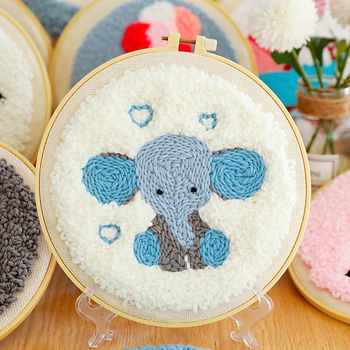 DIY punch needle elephant