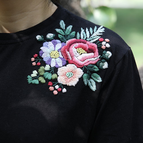 E03-208 Shirt embroidery