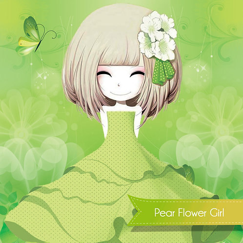 Pear flower girl