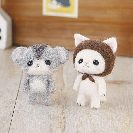 Hamster & white cat 441-371
