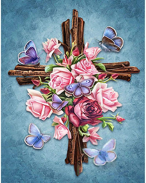 DYS013 Flower Cross