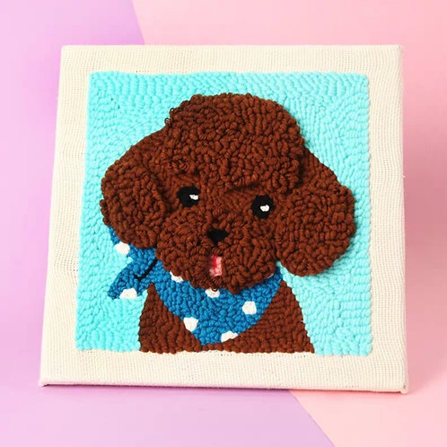 DIY punch needle poodle