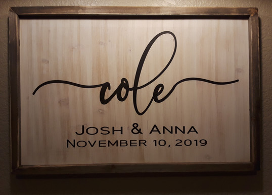 PERSONALIZED WALL/EASEL DECOR