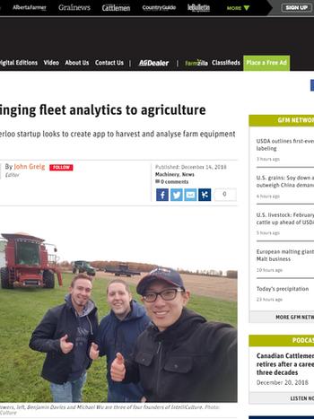 Farmtario Features IntelliCulture's Monitoring Tools