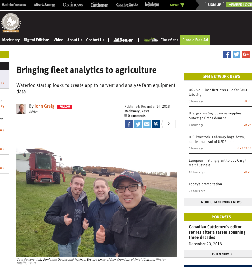 Farmtario Features IntelliCulture's Monitoring Tools