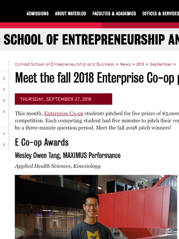 Meet the fall 2018 Enterprise Co-op pitch winners | Conrad School of Entrepreneurship and Business