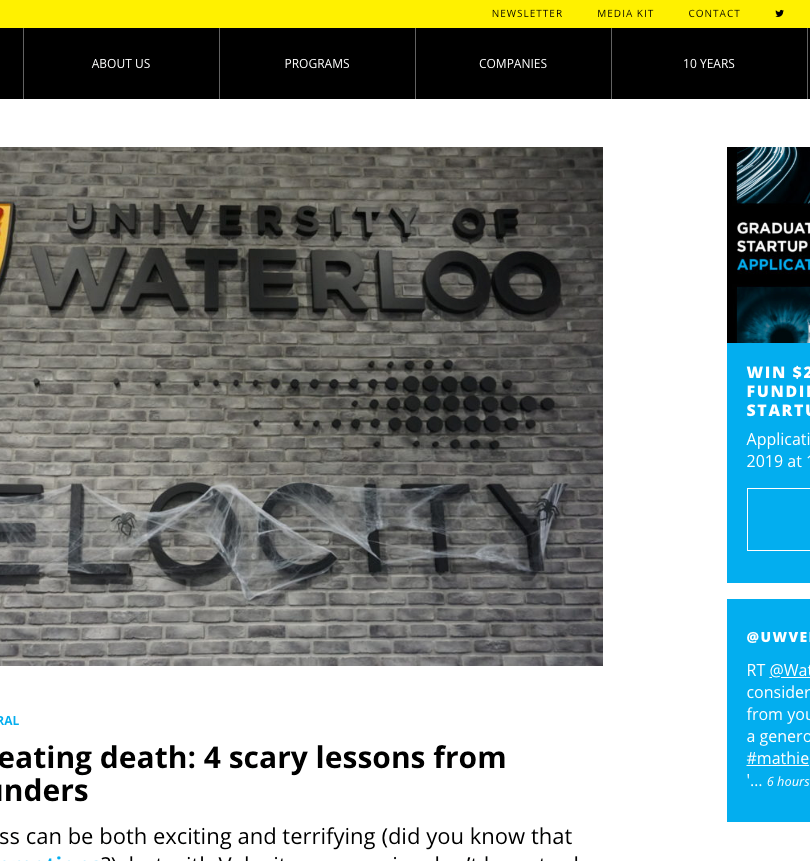 Startups Cheating Death: 4 Scary Lessons from Velocity Founders