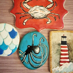 First real attempt at hand-painted cookies. My _artymcgoo homework for May!_._._._._.jpg
