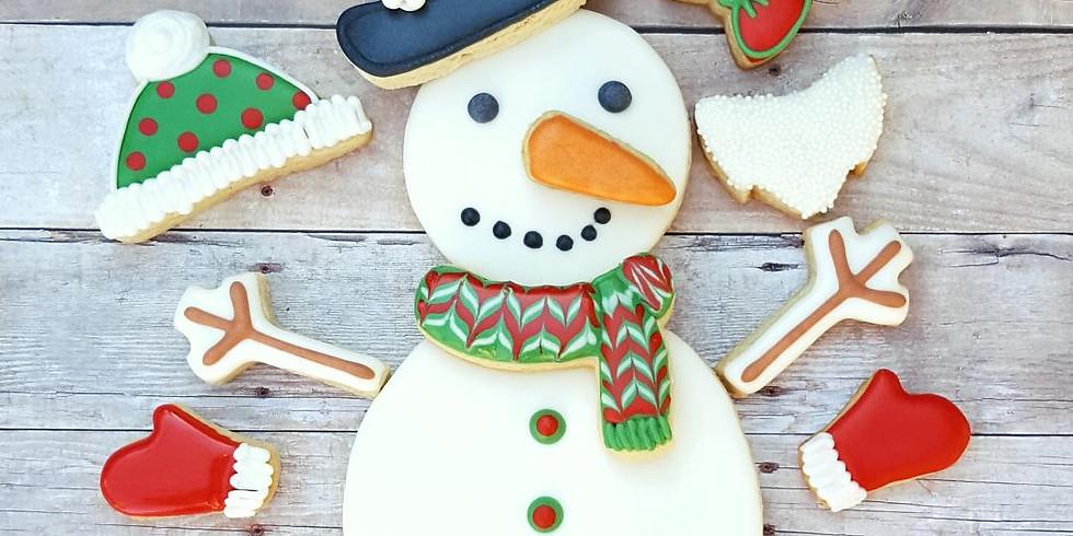 Kids Build a Snowman Cookie Class