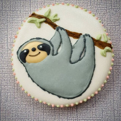 My new favorite. A sloth cookie! 😍 Part of a custom birthday set._._._._._.jpg