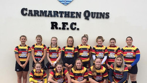 Girls Under 15s beat the downpour and took to the field kitted out in their new internationalshirts!