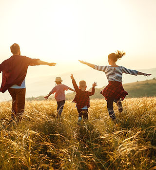 Happy family: mother, father, children s