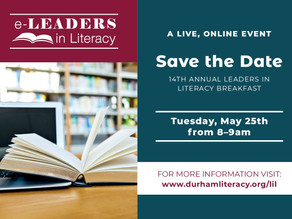 Save the Date: 2021 Leaders in Literacy Virtual Breakfast