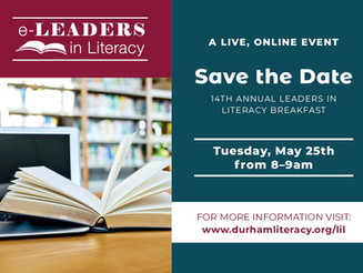 Save the Date: 2021 Leaders in Literacy Virtual Breakfast