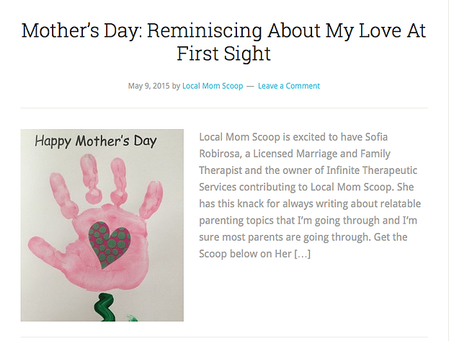 Mother's Day: Reminiscing About My Love at First Sight