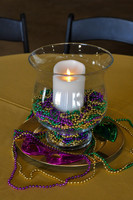 Large Hurricane Glass Centerpiece with Candle