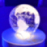 Lighted Earth Globe Centerpiece