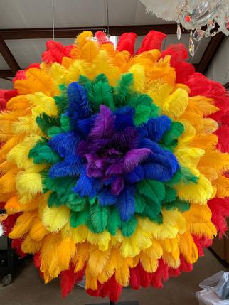 Rainbow Feather Flower