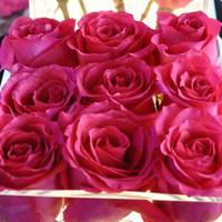 Roses Centerpiece Modern Geometric Contemporary