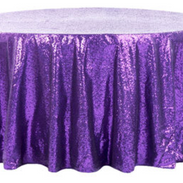 Purple Sequined 6' Round