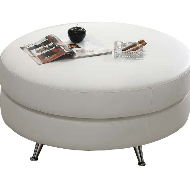 large-round-contemporary-white-leather-o